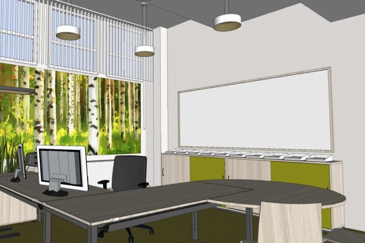 Projektbeispiel Kellerbüro: 3D-Planung