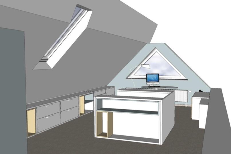 Projektbeispiel Dachgeschoss: 3D-Planung