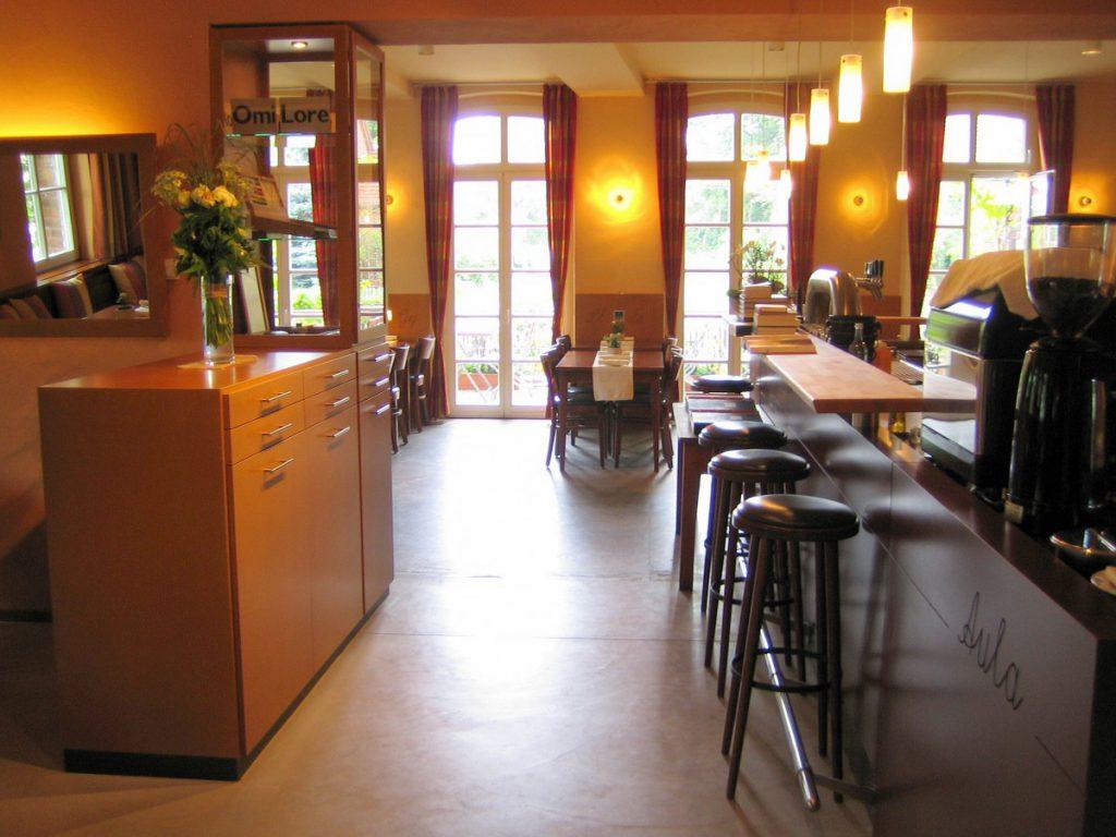 Blick in den Gastraum des Restaurants