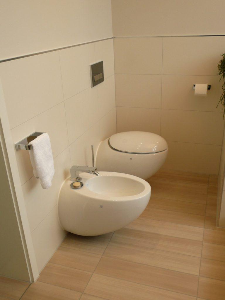 WC-und Bidet-Bereich
