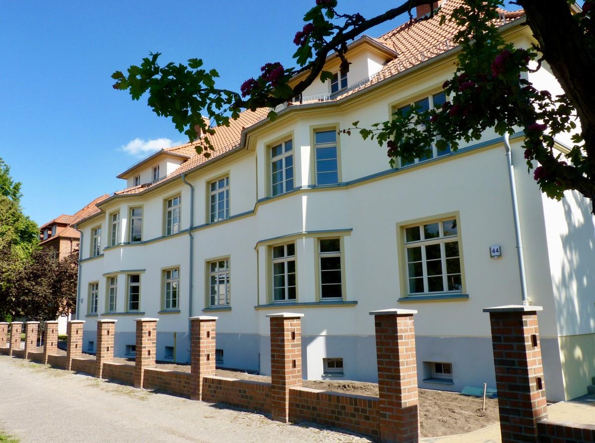 """Aussenansicht des """"Gartenhaus"""" in Prenzlau"""